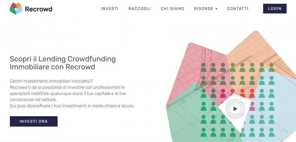 Recrowd sito per investire in immobili